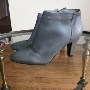 Grey leather heeled Booties